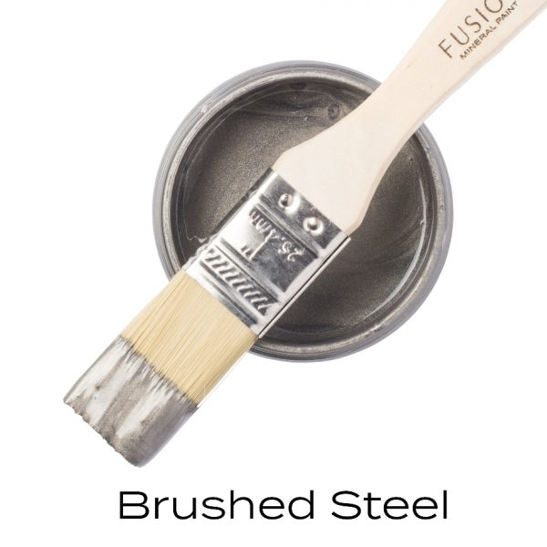 metallic brushed steel paint