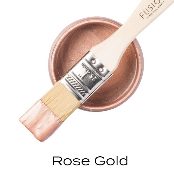 metallic rose gold