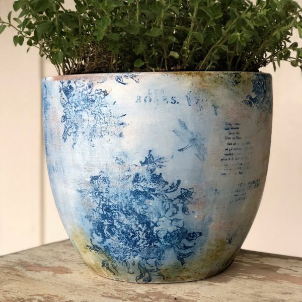 IOD china blue pot blue star antiques China Blue Decor Ink