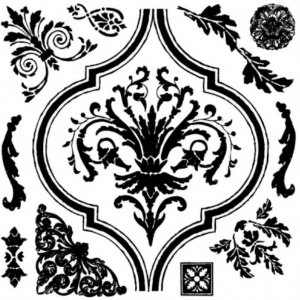Arabesque stamp
