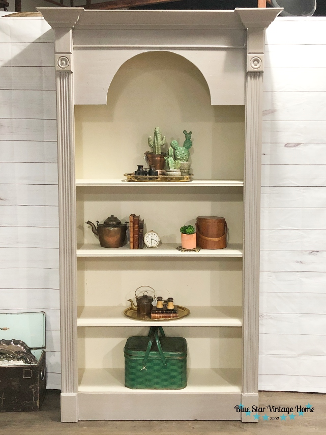 blue star vintage home painted bookcase Two Steps to a Restoration Hardware Look