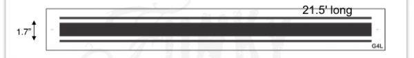 Grain Sack Stripes L Series at 21.5 long Funky Junk s Old Sign Stencils.53 PM medium stripe Grain Sack Stripe Stencil