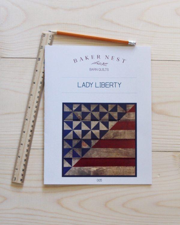 75aa0f80bc7099de794c87313affdd2c 1 Lady Liberty Barn Quilt Pattern