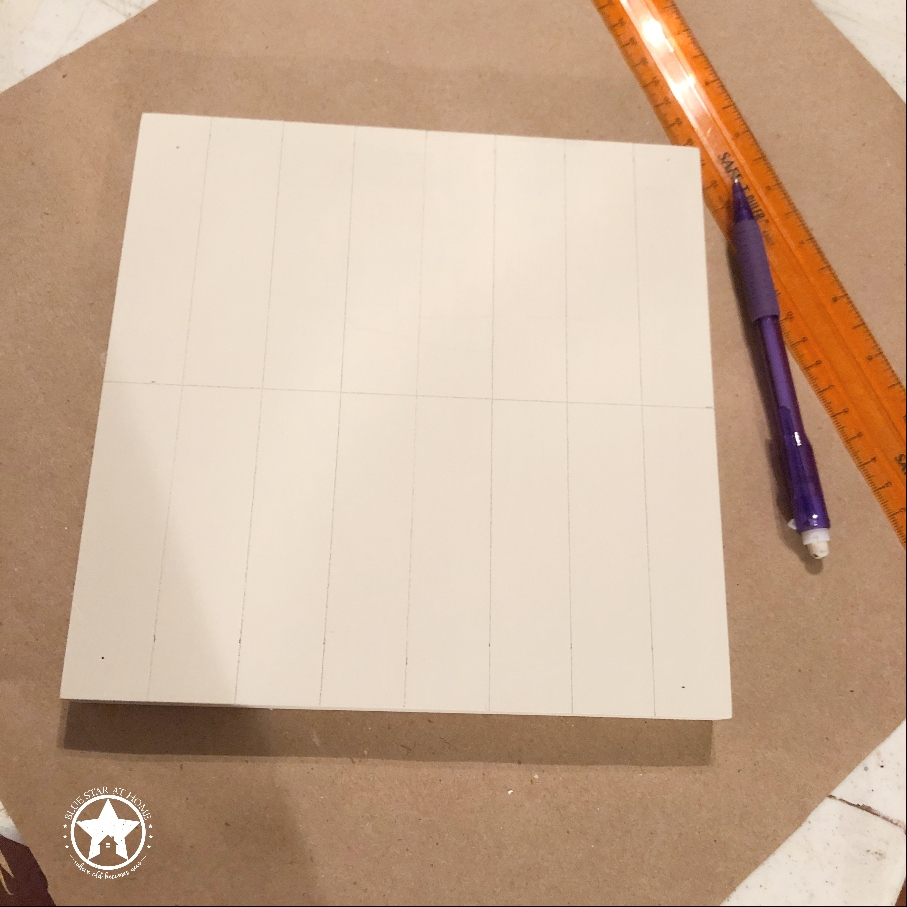 blue star draw grid Four Easy Steps to Paint a Barn Quilt