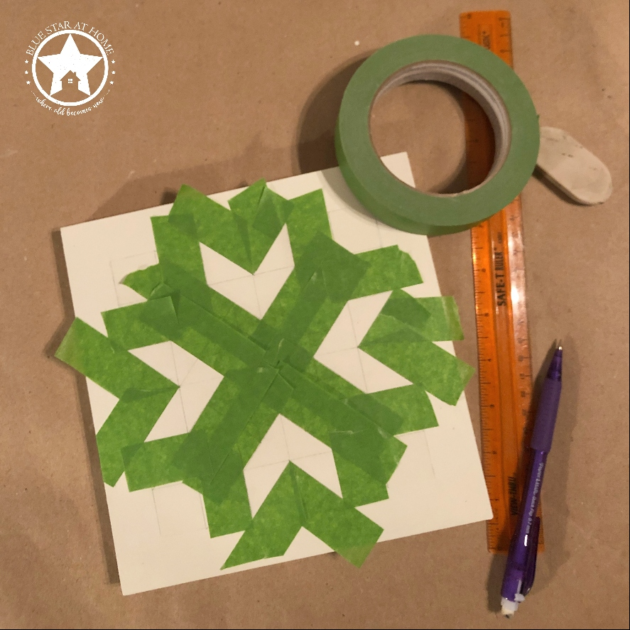 blue star quilt tape Four Easy Steps to Paint a Barn Quilt