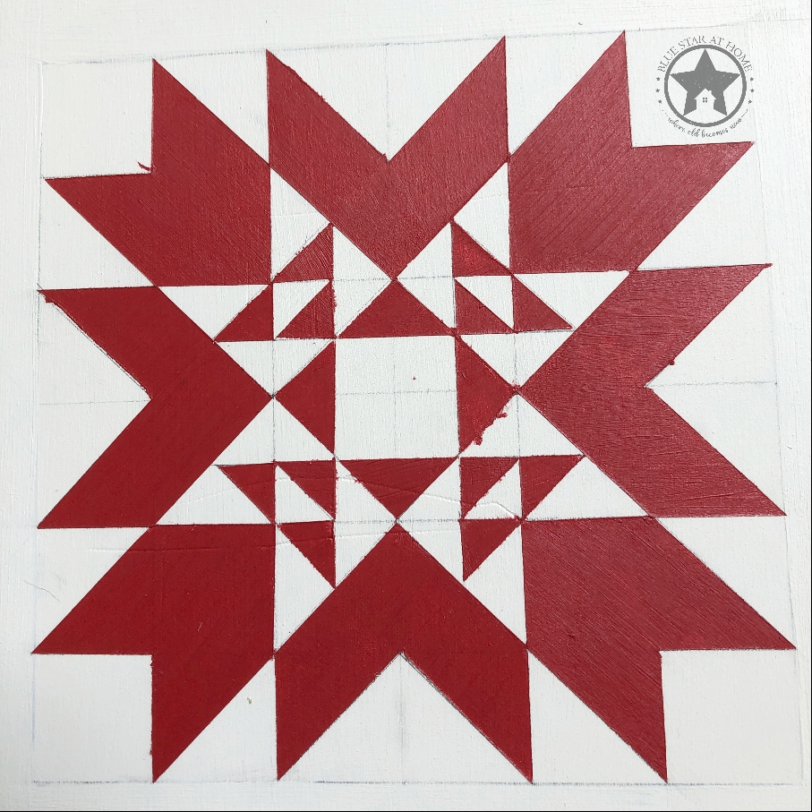 blue star red quilt Four Easy Steps to Paint a Barn Quilt