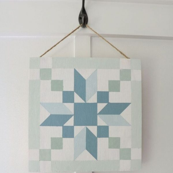 how to make a faux vintage barn quilt Stepping Stones Barn Quilt Pattern