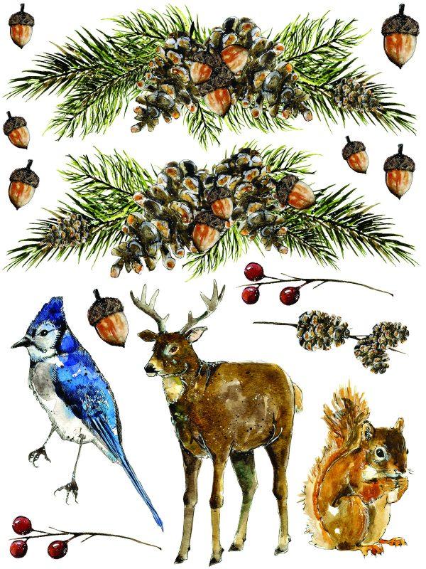 IOD Woodland Christmas 6 Woodland Christmas Transfer