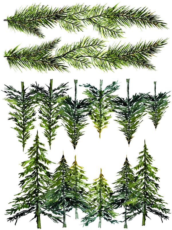 IOD Woodland Christmas 7 Woodland Christmas Transfer