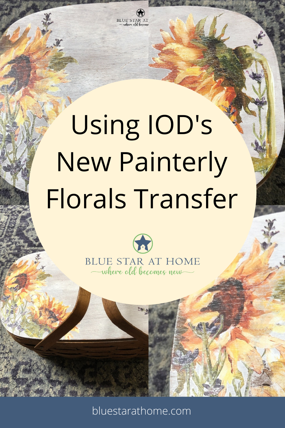 Using IOD's Painterly Florals