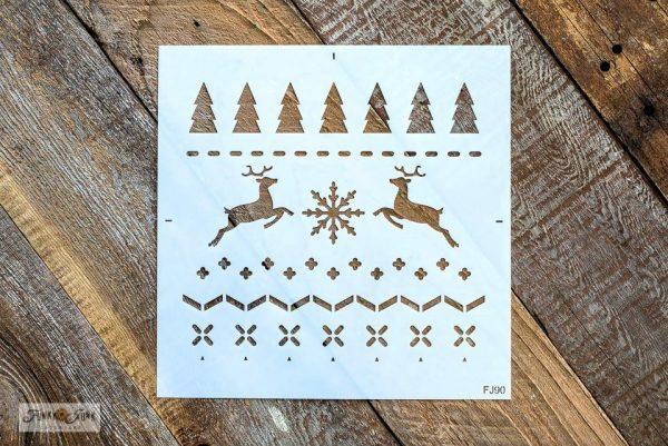 ChristmasSweaterstencilbyFunkyJunk sOldSignStencils Christmas Sweater Stencil