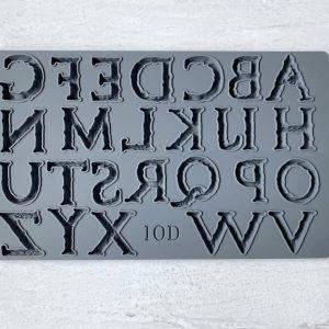 Victoria alphabet mould