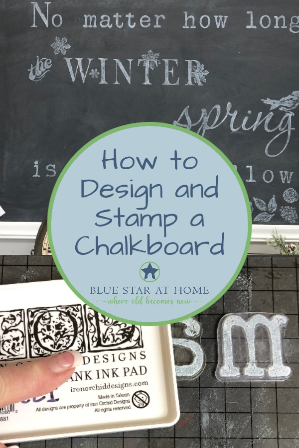 How to stamp a chalkboard