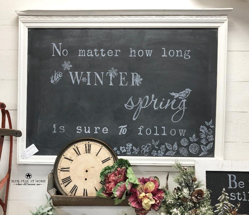 stamp a chalkboard