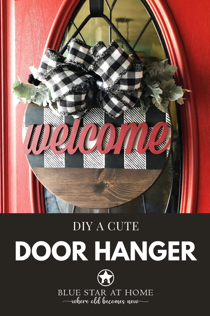 diy a cute door hanger