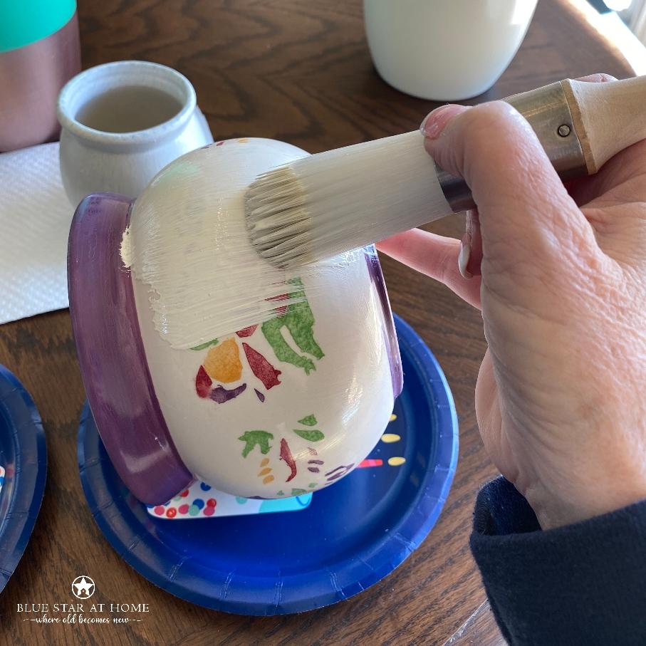 blue star paint pots How to DIY Vintage Crock Pots