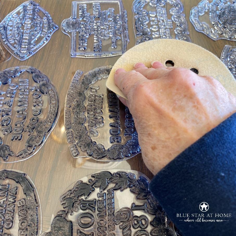 blue star sand stamps How to DIY Vintage Crock Pots