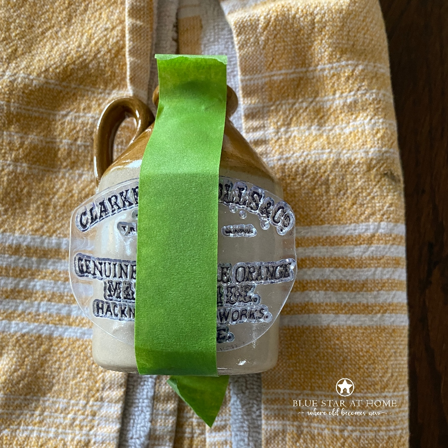 blue star stamp pot How to DIY Vintage Crock Pots