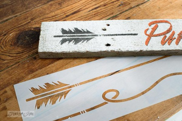 2018 chippy white fall arrow signs Arrow Stencil