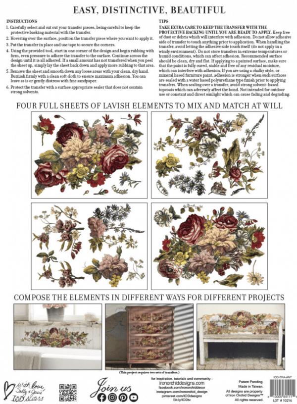 Screen Shot 2021 04 19 at 1.26.30 AM Floral Anthology IOD Transfer - Preorder