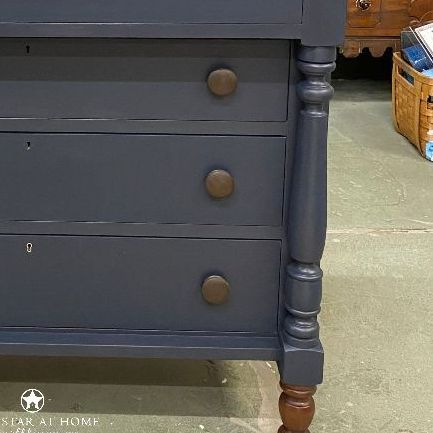 Blue star midnight chest Four Steps to a Brushstroke Free Finish