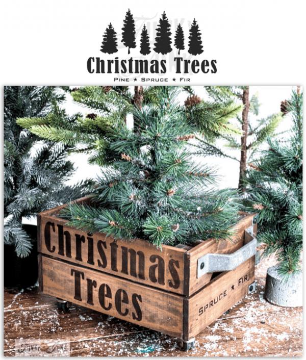 Christmas Trees Stencil