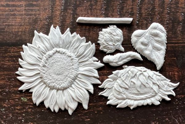 sunflowers mould clay