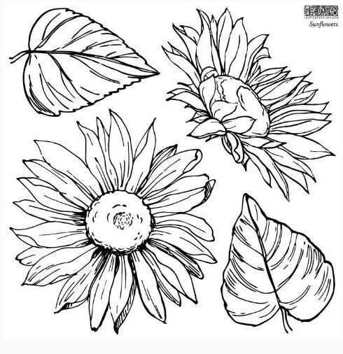 sunflowers stamp