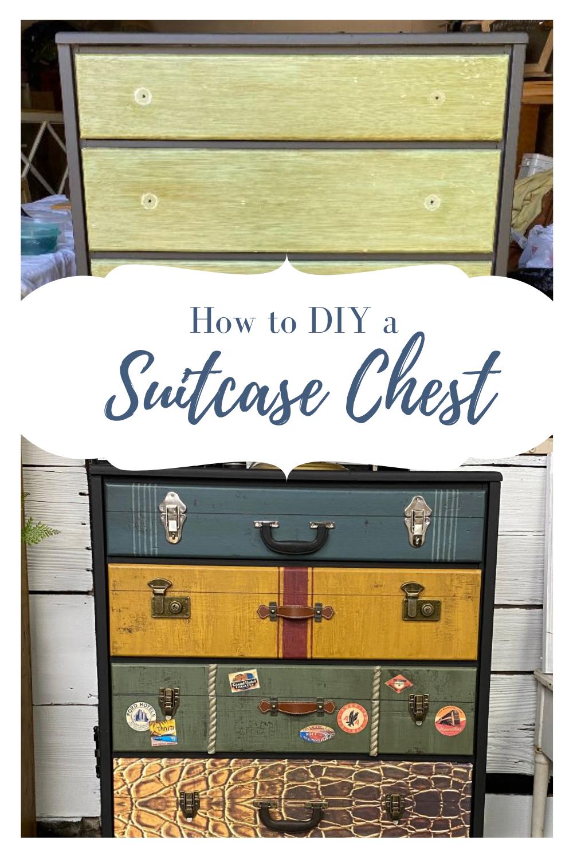 diy a suitcase chest