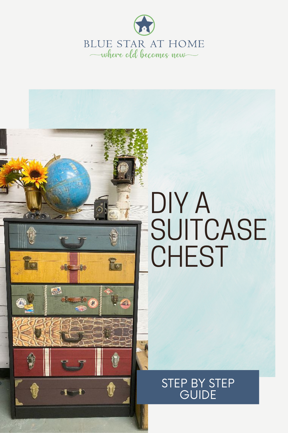 diy a chest of suitcases