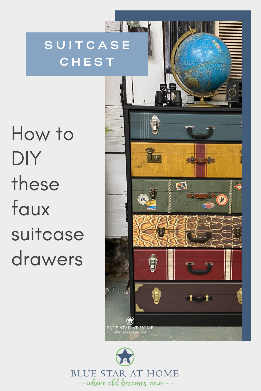 how to diy faux suitcases