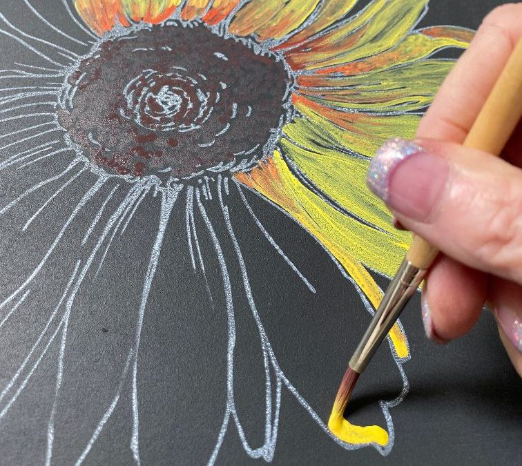 Painting with Erasable Liquid Chalk
